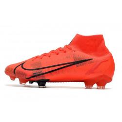 Chaussures de foot à crampons Nike Magista Obra FG Noir Blanc Hyper Punch