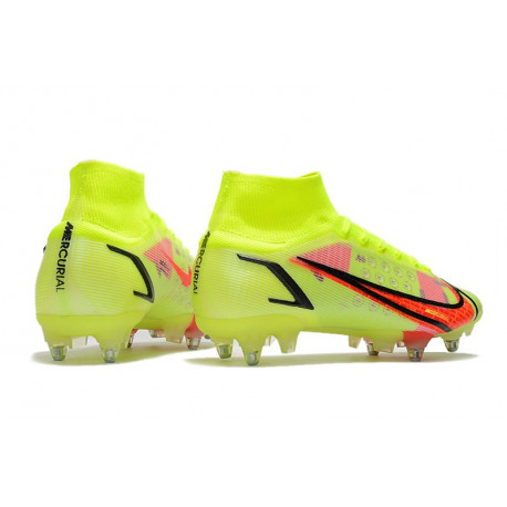 Nike Crampon Football 2015 Nouvelle Hypervenom Phantom Premium FG Argent Orange